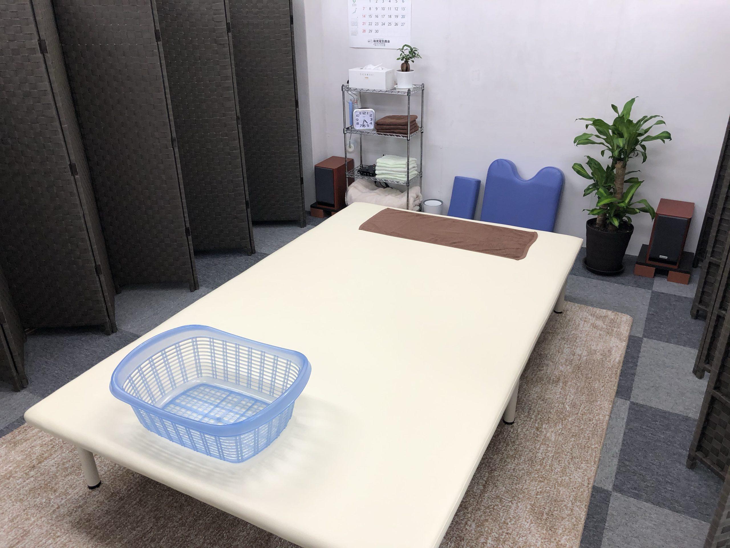 松江市みどり整体 施術スペース ベッド